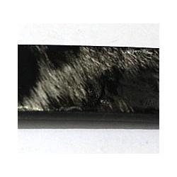 Imitatie leer18x2mm dierprint zwart/grijs 10cm