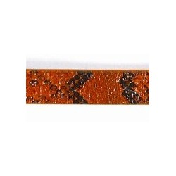 Pu leer10x2mm plat oranje snake print 20cm.