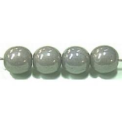 Glaskralen 10mm grijs parelmoer 6 stuks