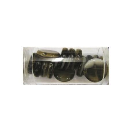 Guterman muntkraal 15mm bruin/wit ca.14st