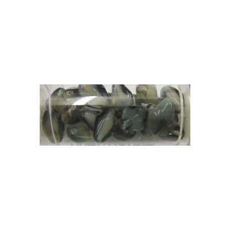 Guterman lantaarnkraal 14mm rookzwart/wit ca20st