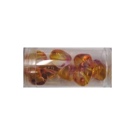 Gutermann multicolour 15mm oranje/lila ca 8st.