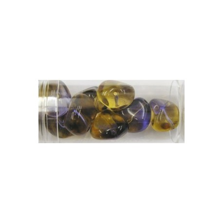 Gutermann multicolour 15mm bruin/lila ca 8st.