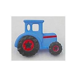 knoop tractor blauw per stuk