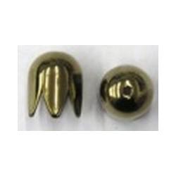 Kapje 10mm brons per paar