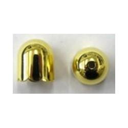 Kapje 7mm golvend goudkl. per paar