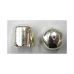 Eindkap 7mm golf zilverkl per paar