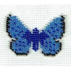 Borduurpakket vlinder Icarusblauwtje 6x8cm