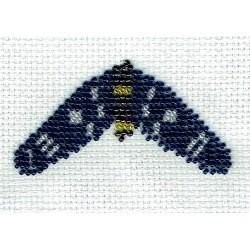 Borduurpakket Amata Phegea vlinder 5x9cm.