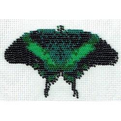 Borduurpakket vlinder 11x13cm groenkleuren