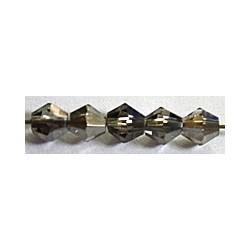 Facetkraal 4mm konisch black diamond 50st.