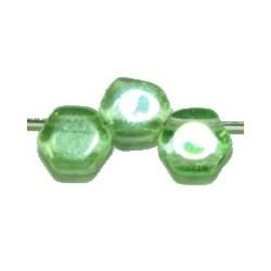 2-gat 6,5mm zeskant transp. groen 15st.