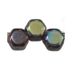 2-gat 6,5mm zeskant transparant mix 15st.