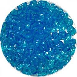 Brick bead 3x6mm transp. l.blauw 100st.