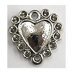 Hanger 2oog hartvorm 17mm voor 2mm simili