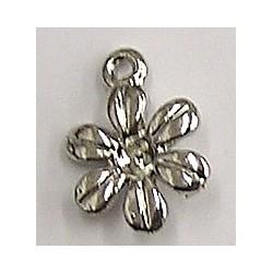 hanger bloemvorm zilverkl. voor 2mm simili