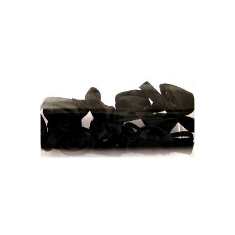 Satijnroosjes 10mm geheel zwart 10 stuks