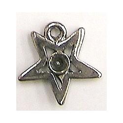 Hanger ster 15mm zilverkl. voor 2mm simili