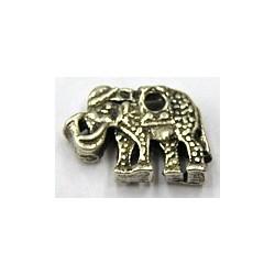 Metalen hanger olifant 15x22mm 2st