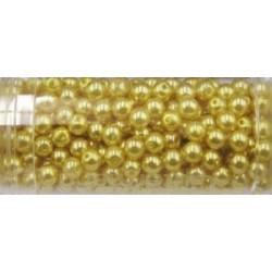 Gutermann glaskralen 4mm goudgeel ca 345st