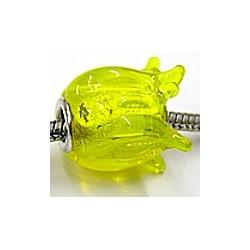 Pandorastyle kraal tulp 15mm geel p.st