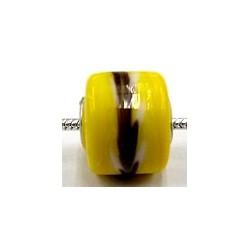 Pandorastyle 3mm gat geel zwart/witte rand