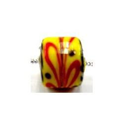 Pandorastyle 3mm gat geel met rood bewerkt