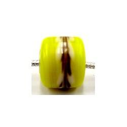 Pandorastyle 3mm gat geel wit/zwarte band