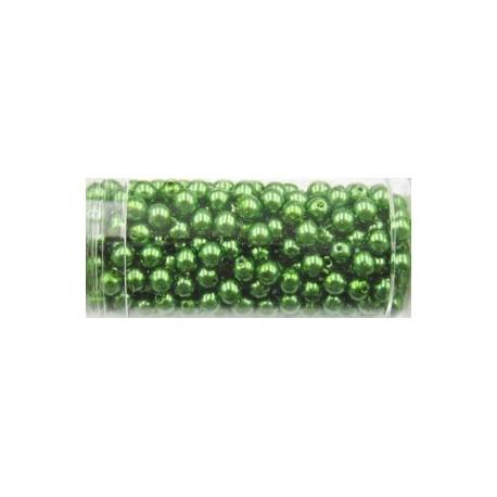 Gutermann glaskralen 4mm groen ca 345 st