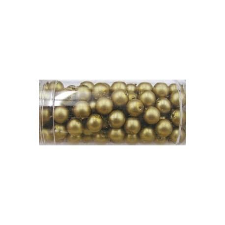 Gutermann glaskralen 6mm goudbruin ca. 100st