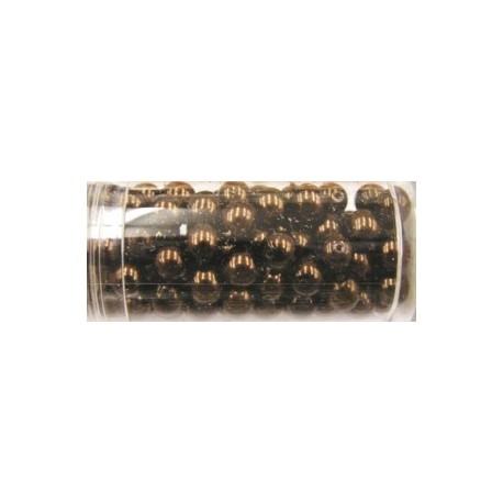 Gutermann glaskralen 6mm d.bruiin ca.100st.