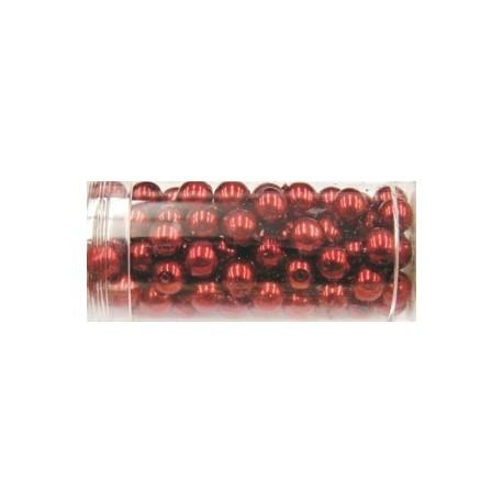 Gutermann glaskralen 6mm bordeaurood 100st