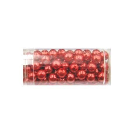 Gutermann glaskralen 6mm rood ca.100st.