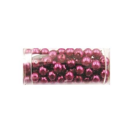 Gutermann glaskralen 6mm oud roze 100st