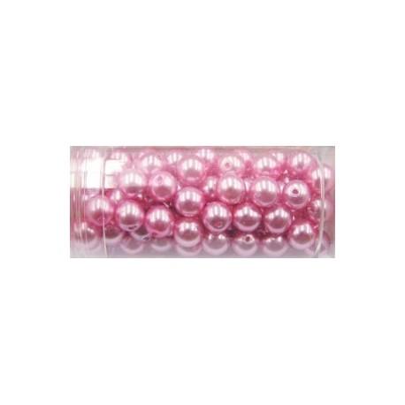 Gutermann glaskralen 6mm roze 100st