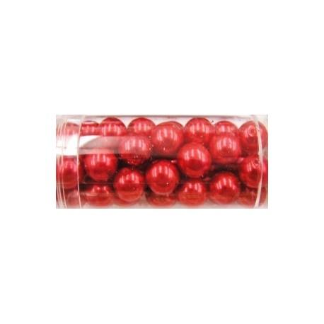 Gutermann glaskralen 8mm rood ca 46 st