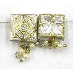 2-rij spacer vierkant 13mm zilver p.st.