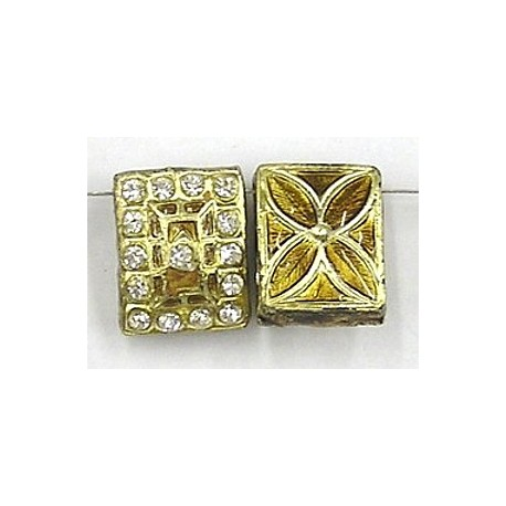 4-rij spacer rchthoek 19x15mm goud p.st.