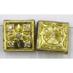 4-rij spacer vierkant 18mm goud p.st.