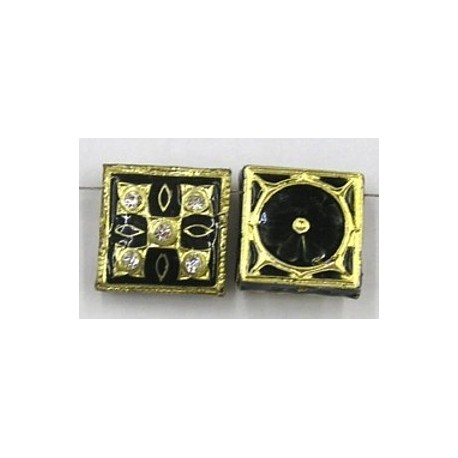 4-rij spacer vierkant 18mm zwart p.st.
