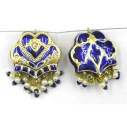hanger groot hart 27mm blauw p.st