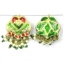 hanger groot hart 27mm groen p.st
