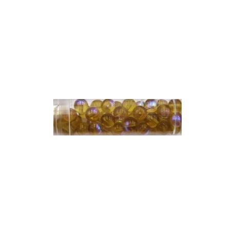 Gutermann regenboogparels 6mm licht bruin ca 40st.