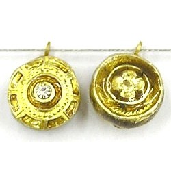 Hanger rond 15mm goud p.st