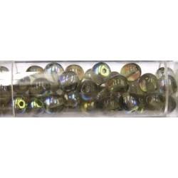 Gutermann regenboogkralen 6mm lichtgroen bruin ca