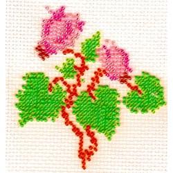 Borduurpakket cyclaam rose/paars 9x10cm