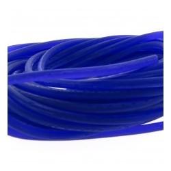 Rubber koord 3mm pr.blauw p.m.