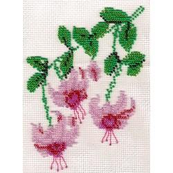 Borduurpakket Fuchsia 13x17cm.