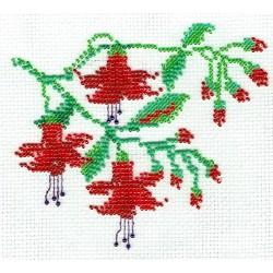 Borduurpakket Fuchsia 12x14cm.
