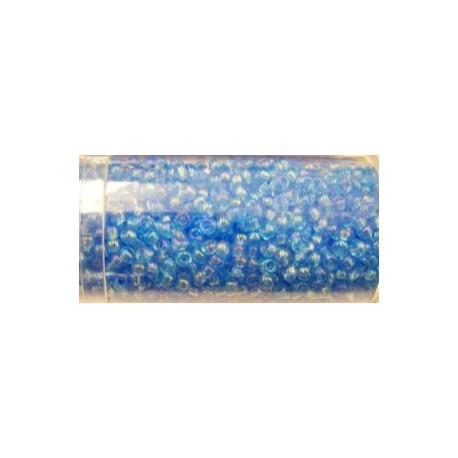 Gutermann rocailles 9/0 transp. blauw AB ca. 28 gr